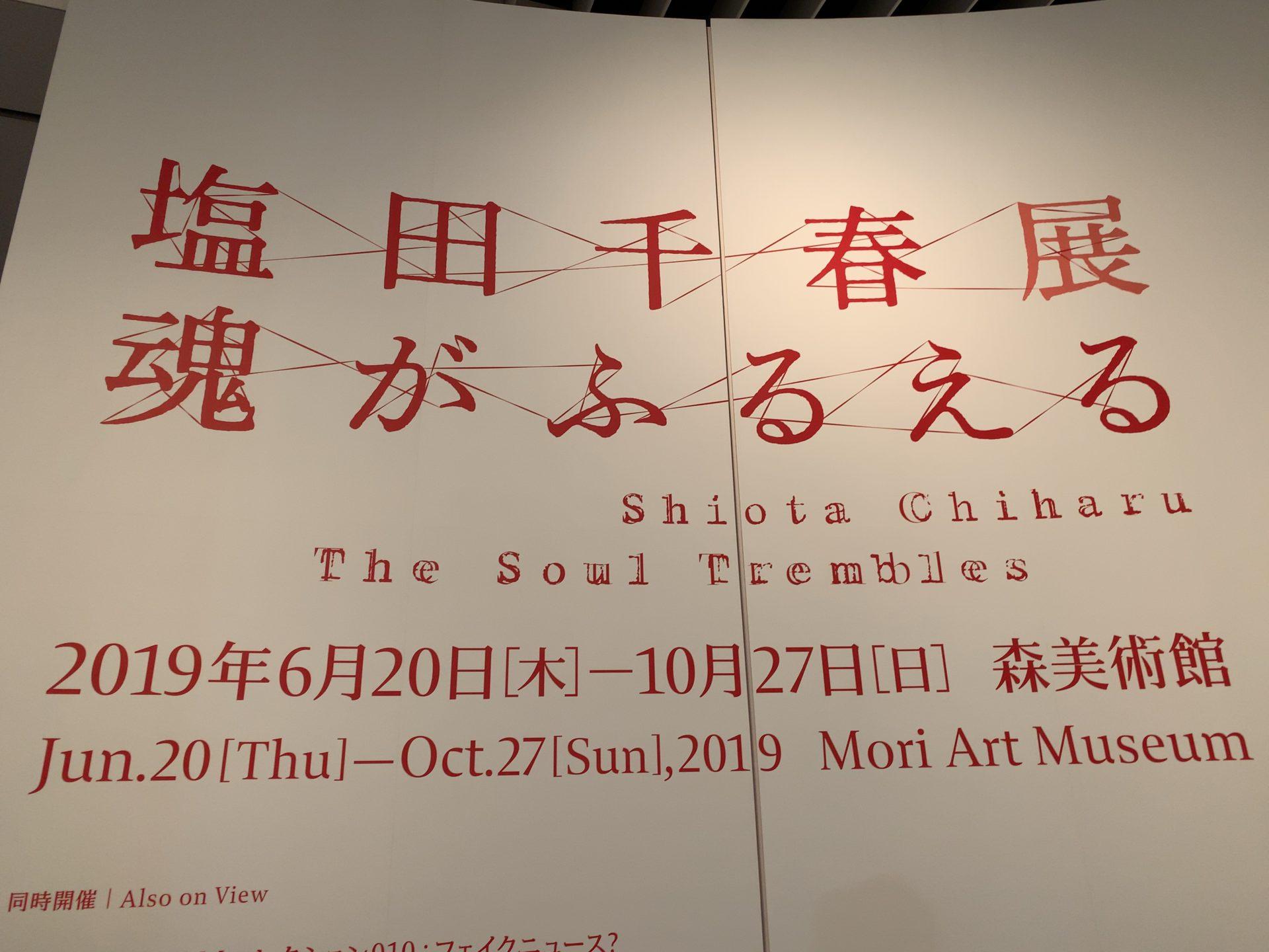鑑賞レポート「塩田千春展:魂がふるえる」(森美術館)